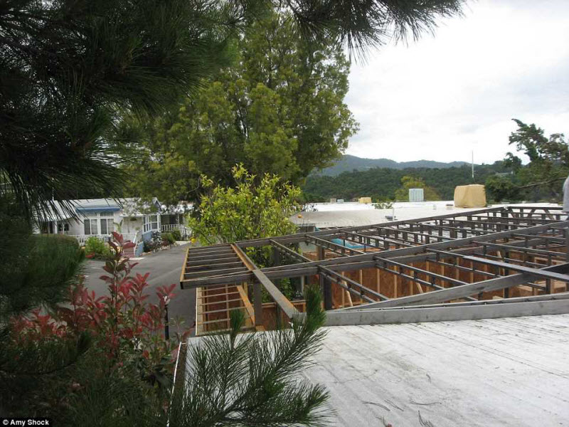 Реконструкция дома, длившаяся целый год, началась через 2 года после того, как Шок купила дом за 520