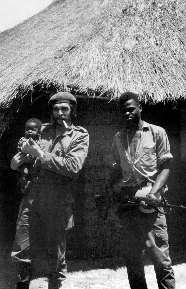 Кроме латиноамериканского континента Эрнесто Че Гевара вел партизанскую деятельность также в Демокра