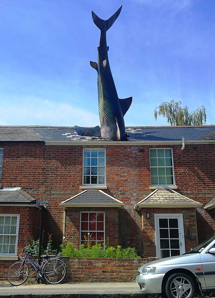 25. Хедингтонская акула, Оксфорд, Англия Созданная скульптором Джоном Бакли акула вызвала много спор