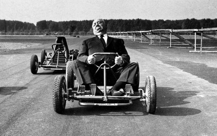 Альфред Хичкок за рулем карта, 1960 год.