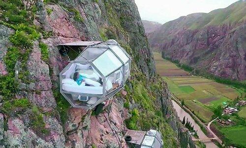 Экстремальный отдых в самом страшном отеле мира с номерами на скалах