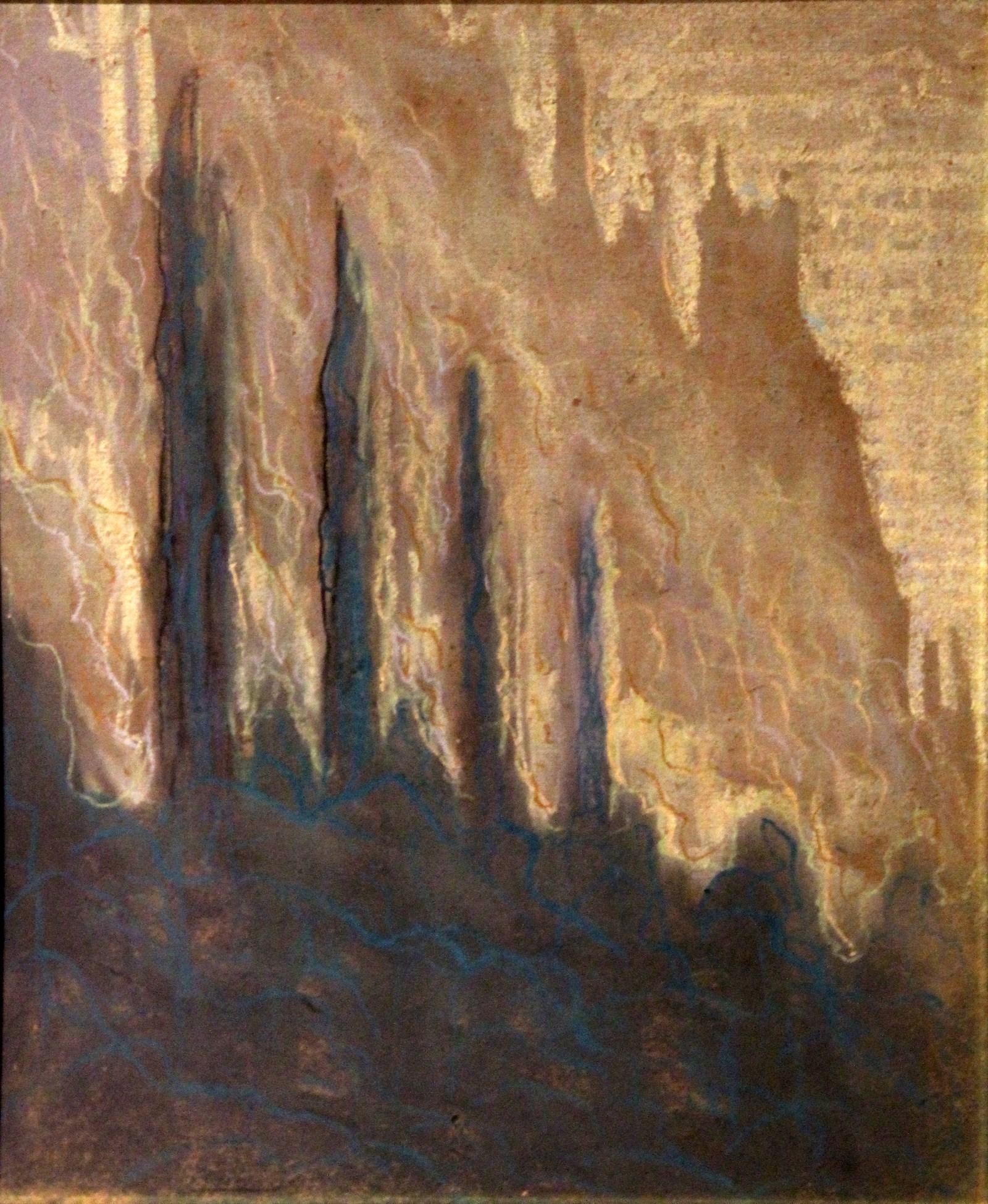 Чюрлёнис М.К. 1875-1911 Горы. Около 1905 Картон, пастель. Художественный музей Литвы