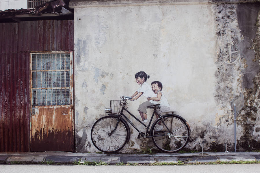 Poetic Street Art by Ernest Zacharevic