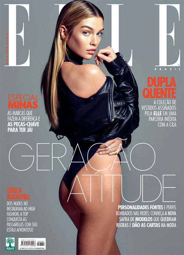 Elle Brazil enlists British top model Stella Maxwell to star in the cover story of their August 2016