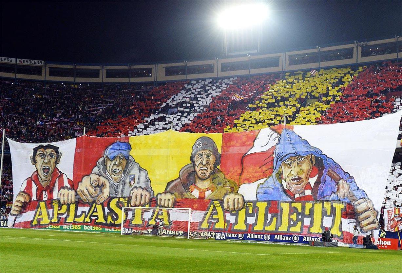 Soccer tifos / Гигантские баннеры футбольных болельщиков со со стадионов по всему миру - Atletico Madrid