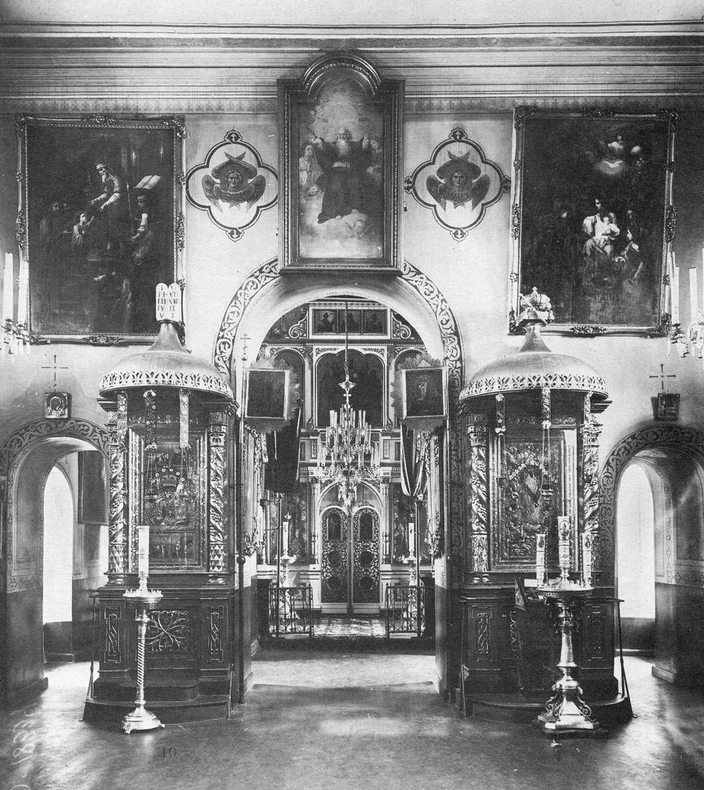 Интерьер церкви Череменецкого Иоанно-Богословского монастыря