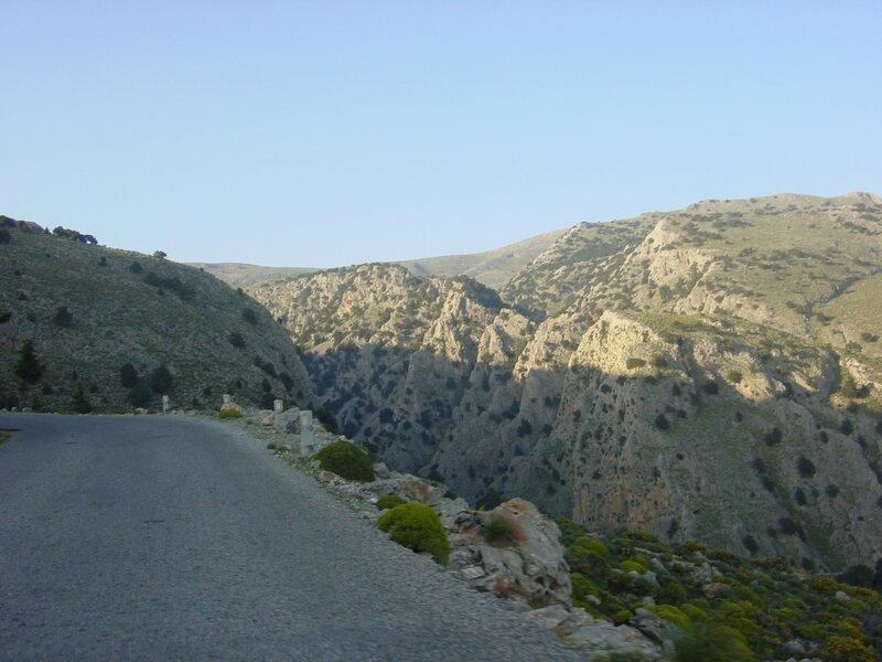 Достопримечательности Крита из окна автомобиля