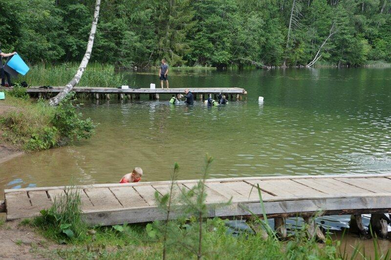Поселок Пржвальское в Смоленском Поозерье, озеро Чистик