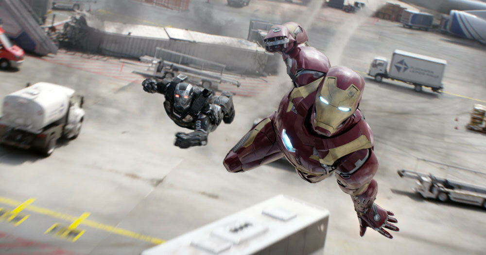 Marvel's Captain America: Civil WarL to R: War Machine/James Rhodes (Don Cheadle) and Iron Man/Tony Stark (Robert Downey Jr.)Photo Credit: Film Frame© Marvel 2016