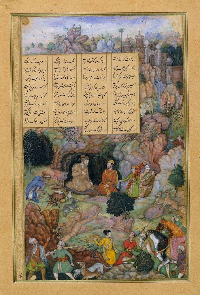 800px-Basawan__Alexander_Visits_the_Sage_Plato_in_his_Mountain_Cave,_Folio_from_a_Khamsa_(Quintet)_of_Amir_Khusrau_Dihlavi__1597-98_Metropolitan_Museum_N-Y.jpg