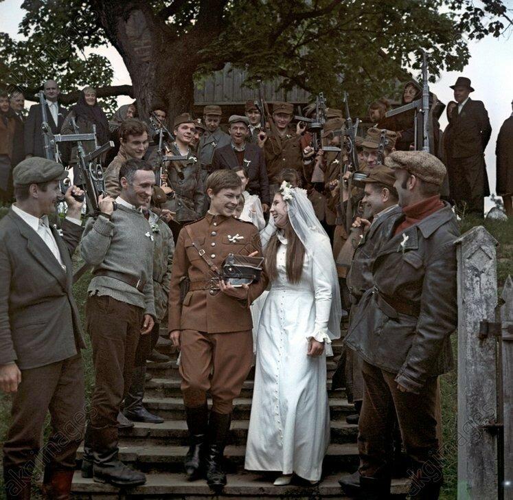 Filming of Soviet-Polish film Legenda directed by Sylwester Checinski