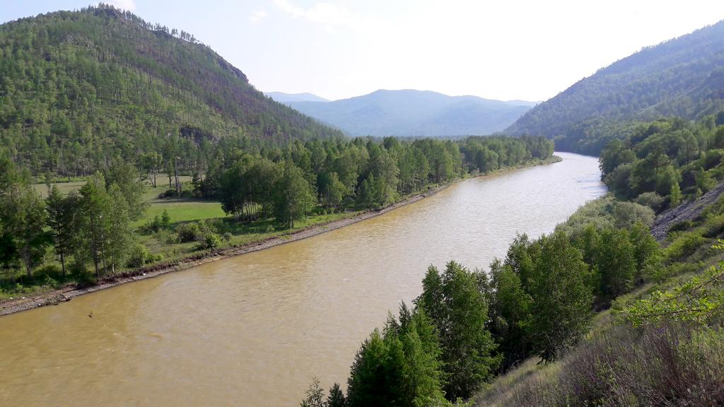 Хакасия. Река Белый Июс