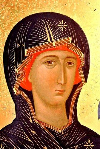 Лик Пресвятой Богородицы.