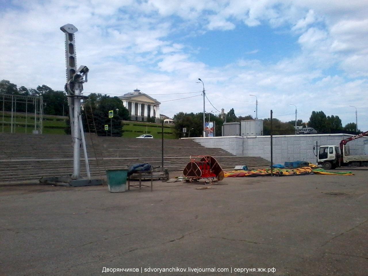 Волгоград - аттракционы - набережная