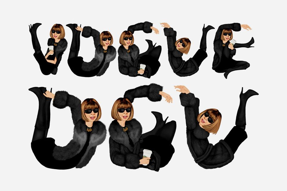 Главный редактор журнала Vogue Анна Винтур.