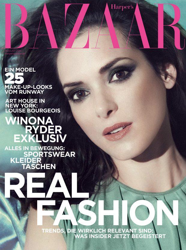 Вайнона Райдер в Harper's Bazaar