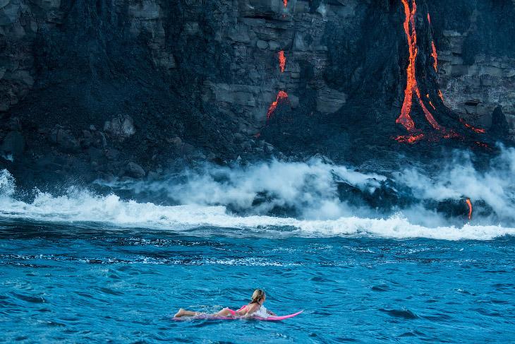 2. С ней надо быть осторожно. Скорость движения потока лавы может достигать нескольких метров в секу