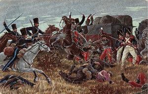 Казаки отбивают обоз Наполеона