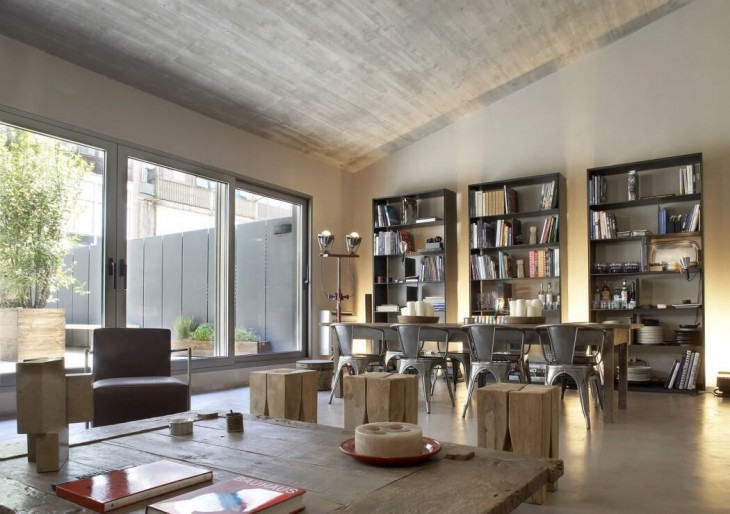 GCA Arquitects designed this industrial apartment located in Barcelona, Spain  in 2010. Take a look