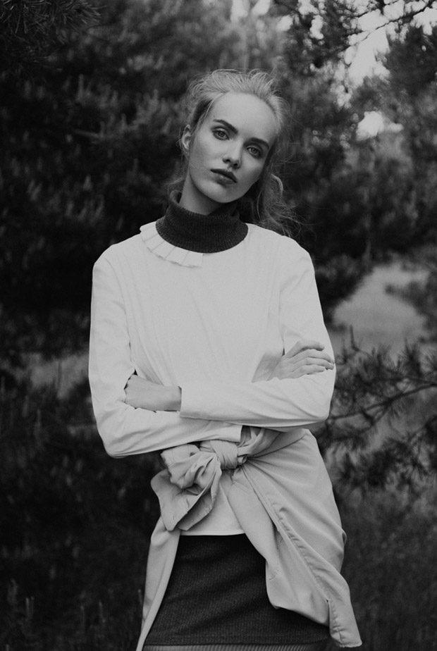 Blouse: Richert Beil Dress: Vintage Shirt: Stylist Own Scarf: Zara