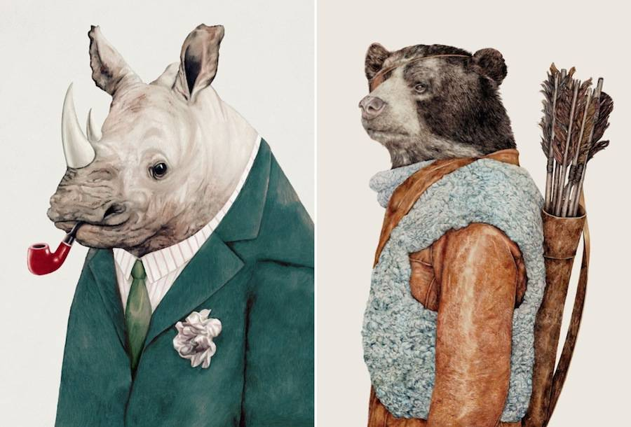 Trendy and Funky Animal Illustrations