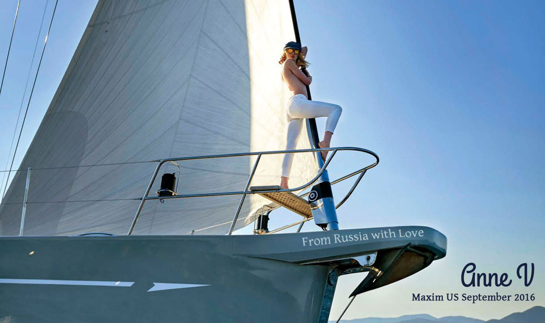 Anne V / Анна Вьялицына в журнале Maxim US, сентябрь 2016 / photo by Gilles Bensimon