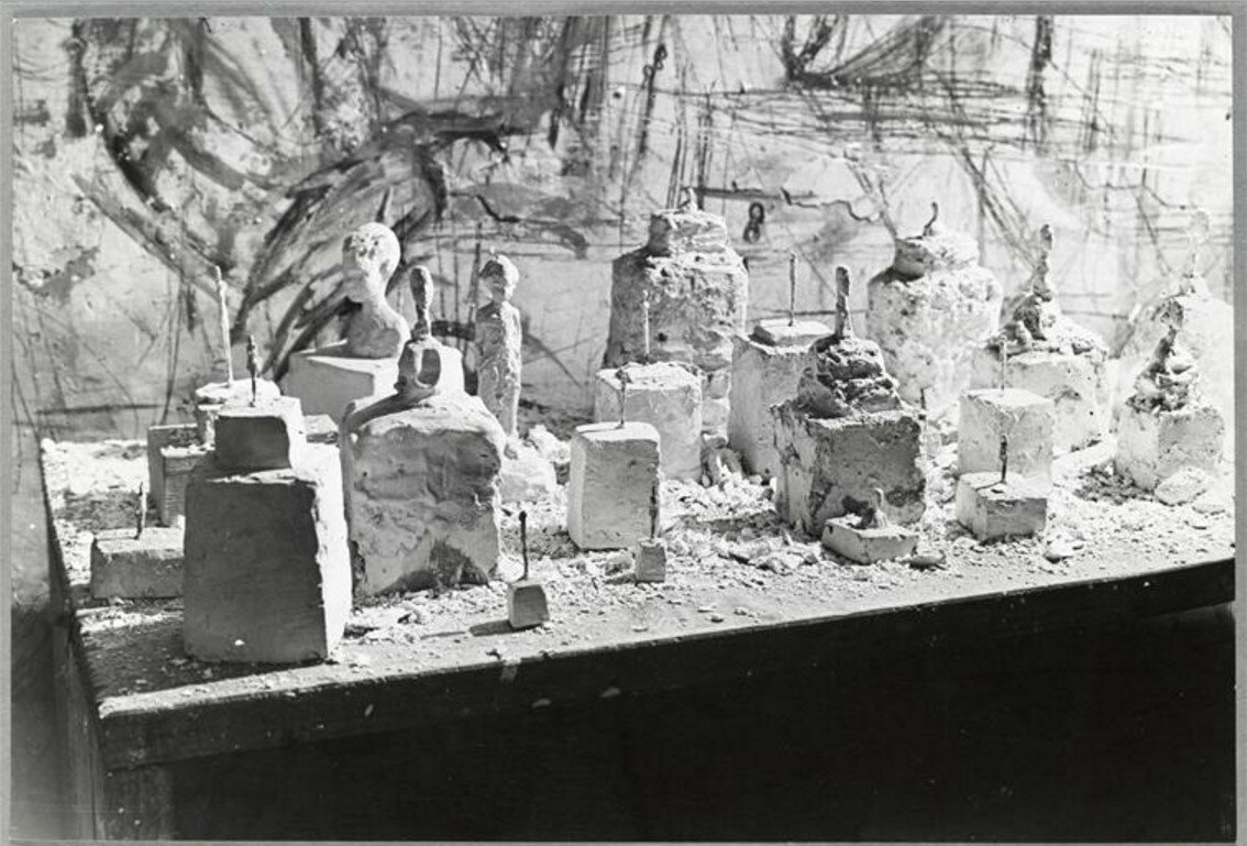1947. Мастерская Джакометти, октябрь