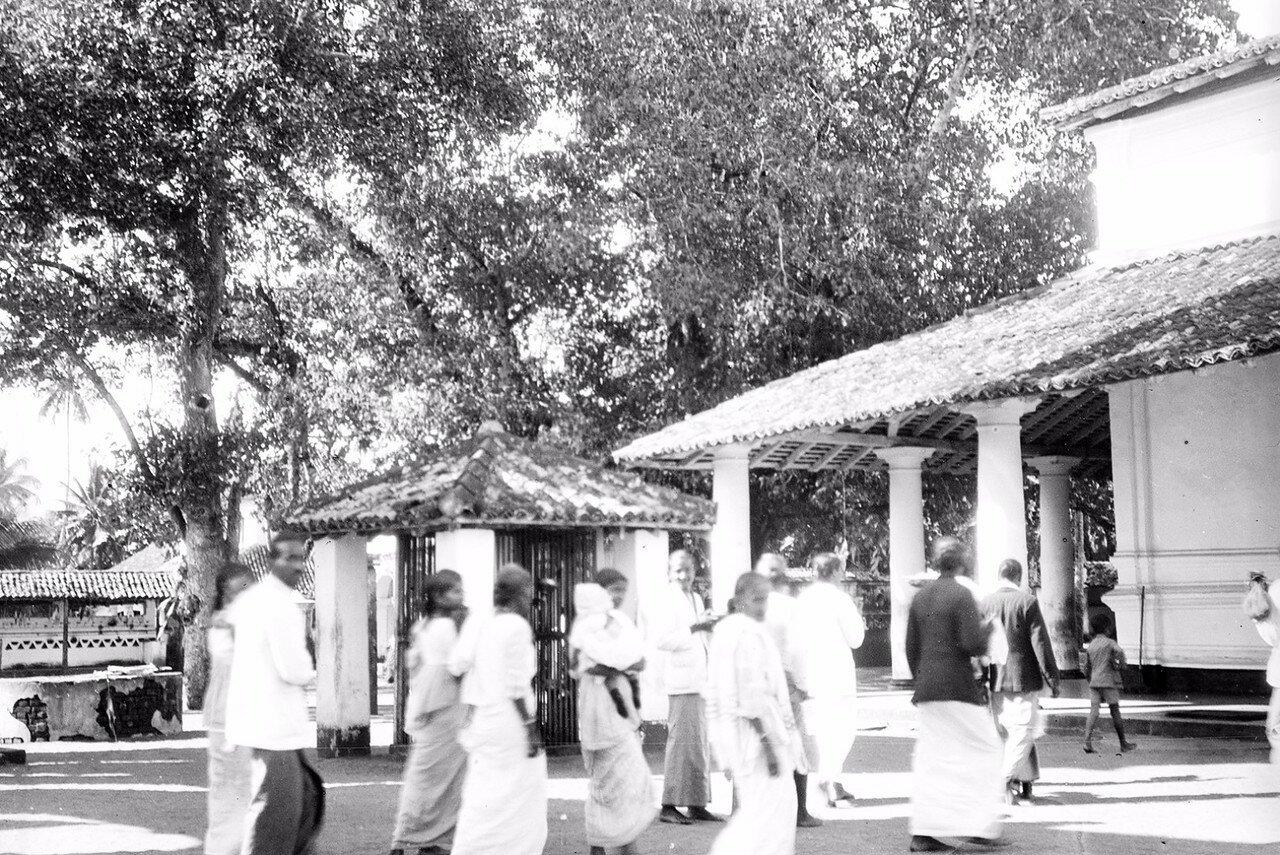 24. Окрестности Коломбо. Буддийский храм в деревне Келани. Паломники перед храмом