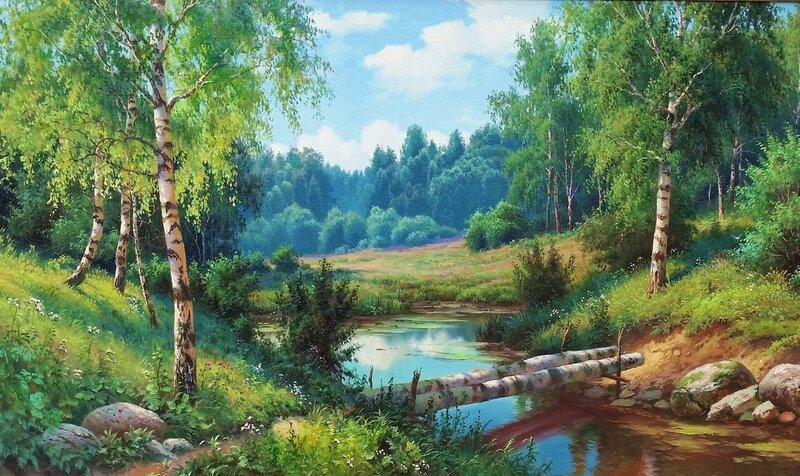 Лесной ручей ...