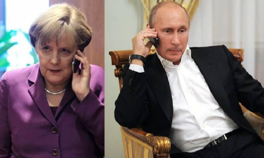 Меркель по телефону обсудила с Путиным ситуацию с урегулированием конфликта на Донбассе
