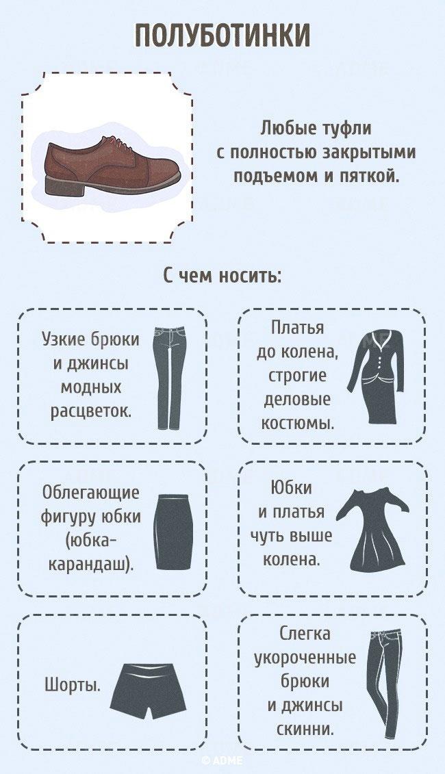 Гид по женской обуви (инфографика)