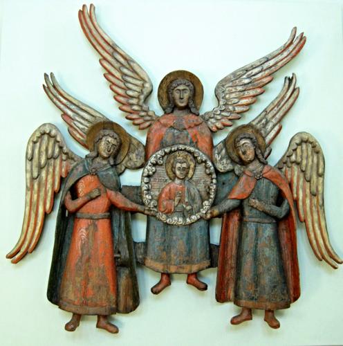Собор архангелов из с.Губдор.Нач. XVIII в. в Пермской худ галерее.