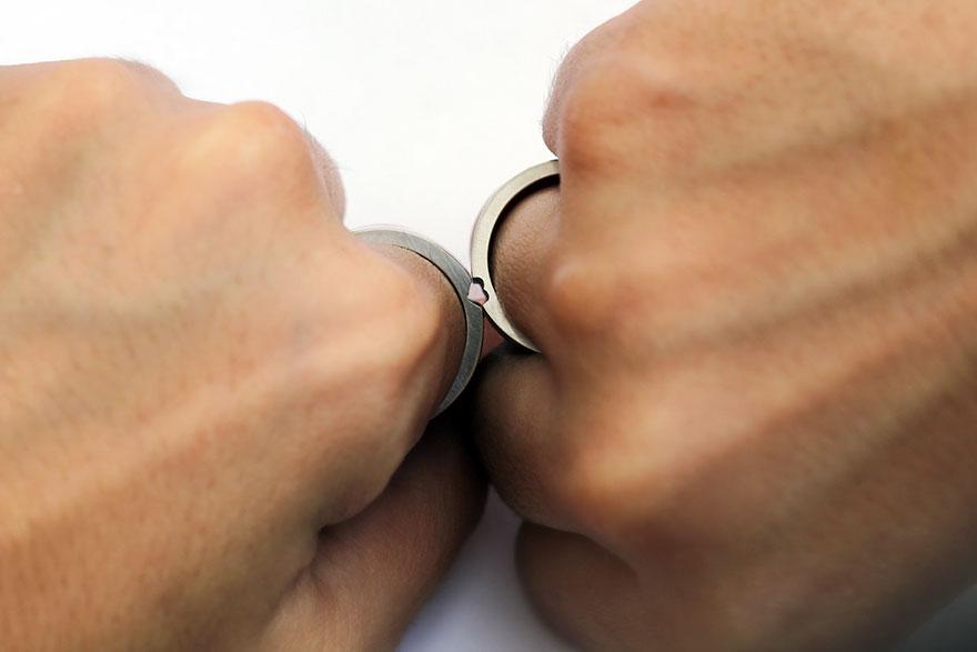 Обручальные кольца, которые становятся одним целым