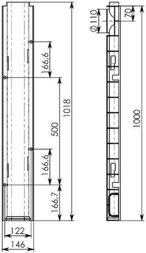 Лоток водоотводный ЛВ-10.14,5.06 пластиковый (чертеж)