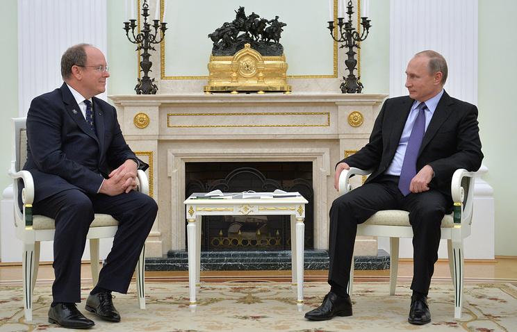 Путин обсудит в столице скнязем Монако перспективы сотрудничества 2-х стран
