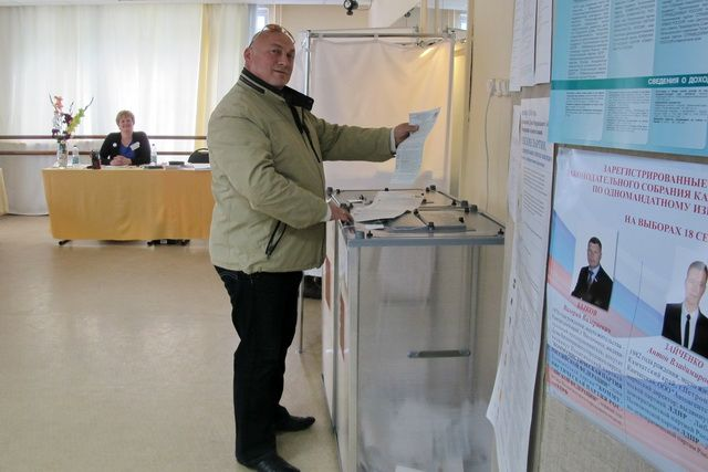 Жители России против обязательного голосования навыборах