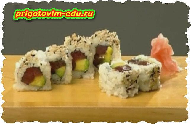 Как делают суши . Процесс приготовления