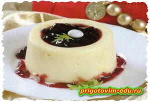 Суфле из белого шоколада в СВЧ - печи