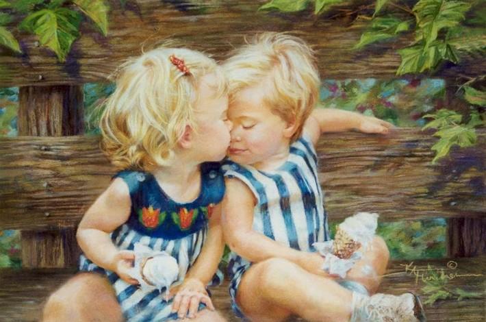 Кэти Финчер: милые картины с американскими детками