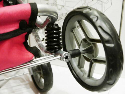 Кукольная коляска с сумочкой и окошком Melobo 9333 розовая
