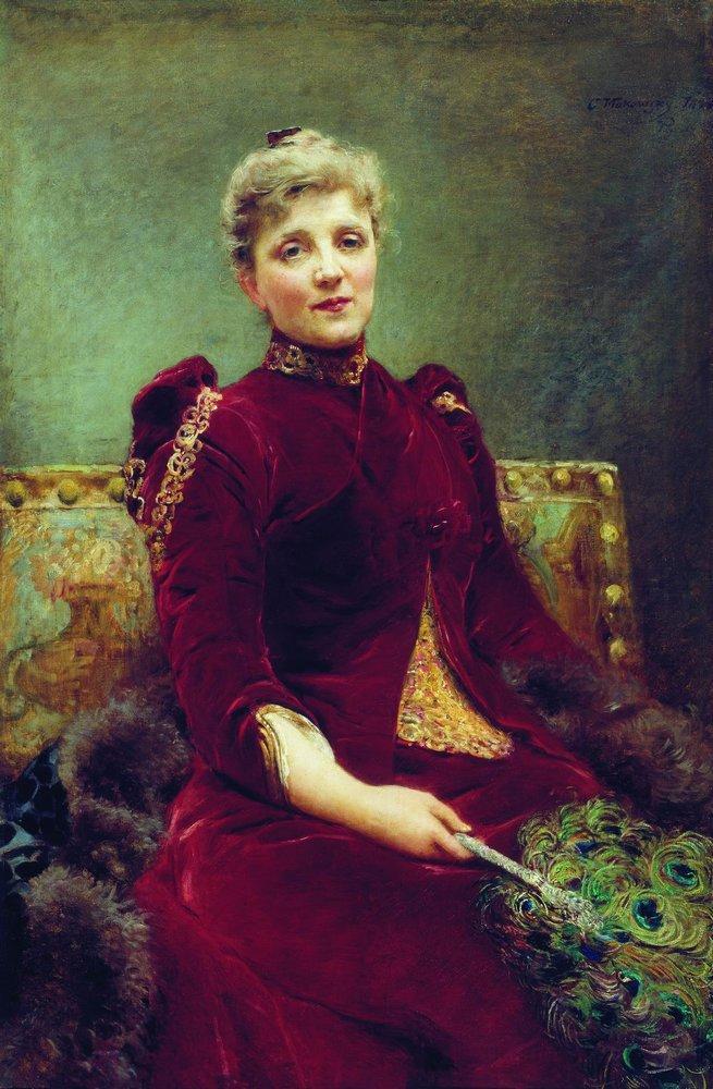 Маковский Константин Егорович (1839-1915) Портрет Худековой. 1890