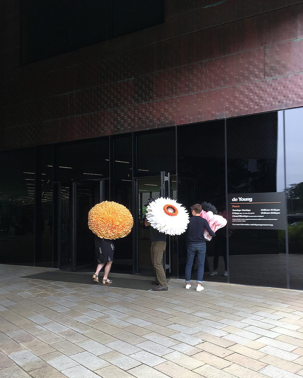 New Giant Paper Flower Sculptures by Tiffanie Turner