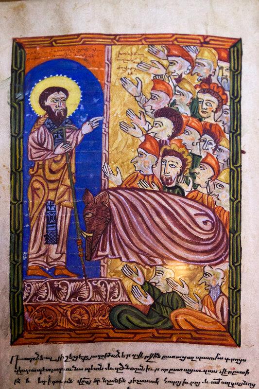 Григорий Просветитель и царь Трдат в образе кабана