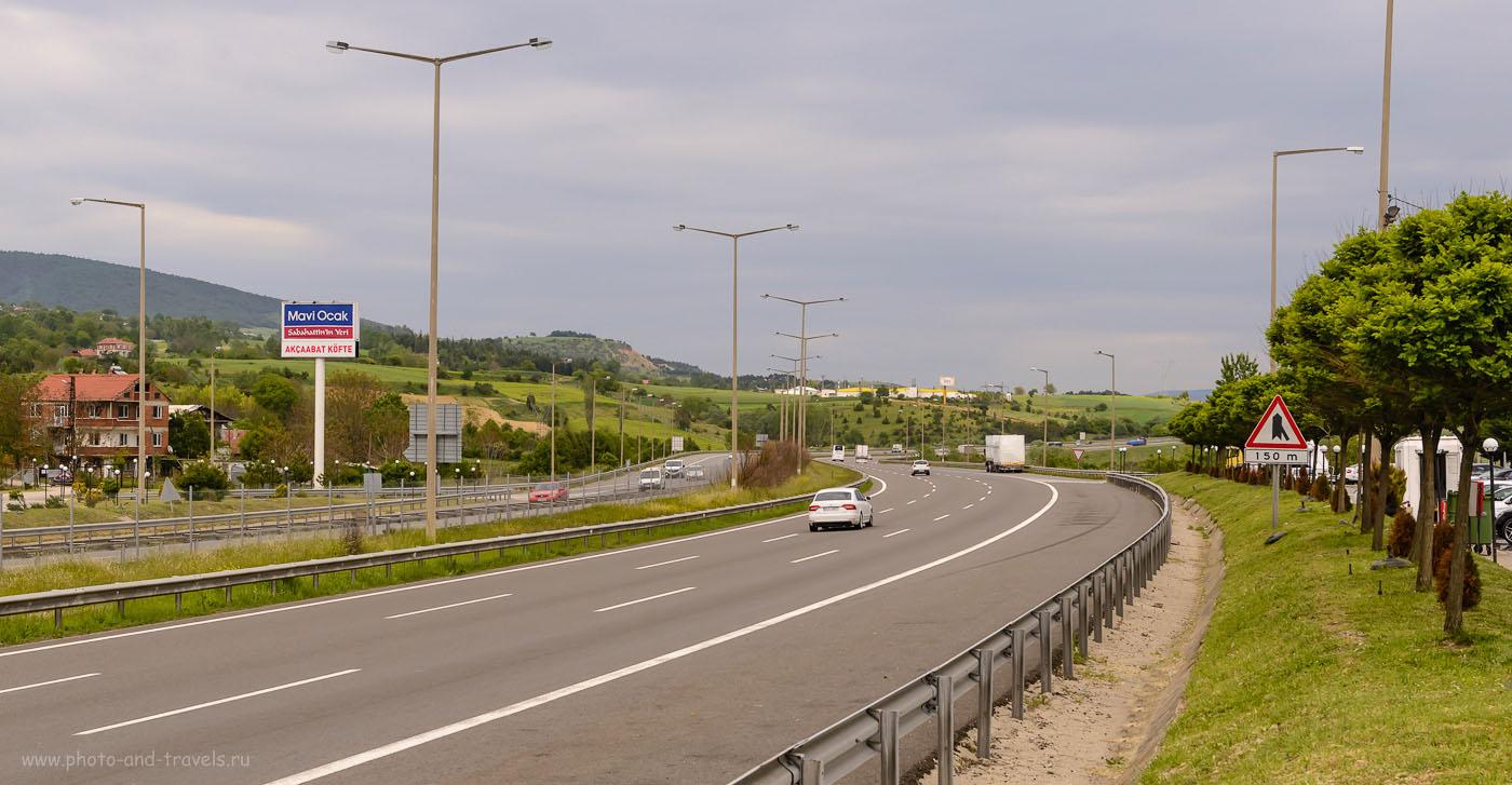 Фотография 4. Так выглядит платная дорога на участке из Стамбула в Анкару. Отзывы об отдыхе в Турции самостоятельно. 1/800, 8.0, 400, 48.