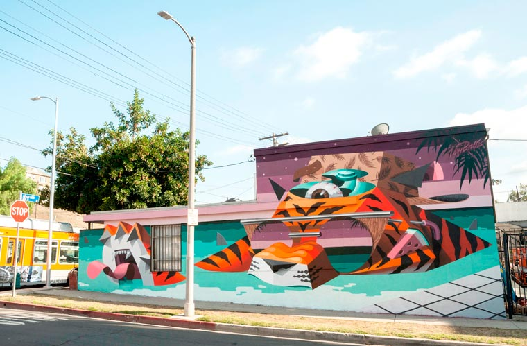 The Low Bros - The pop and geometric street art creations of Qbrk and Nerd