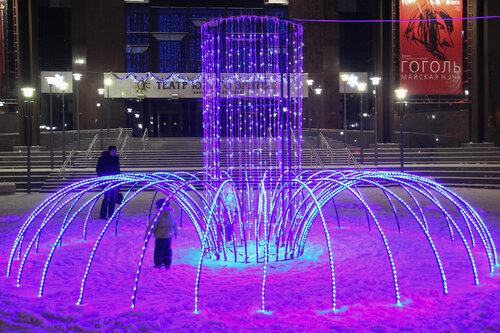 Новогодние фонтаны