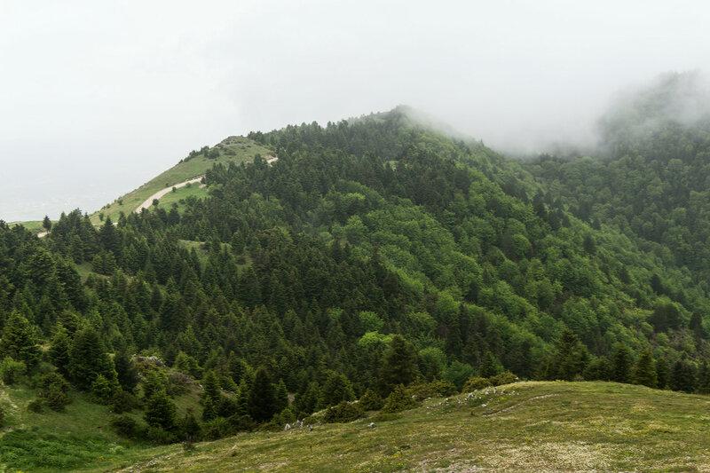 пейзаж на горе Митсикели (Mitsikeli), Загория, Греция