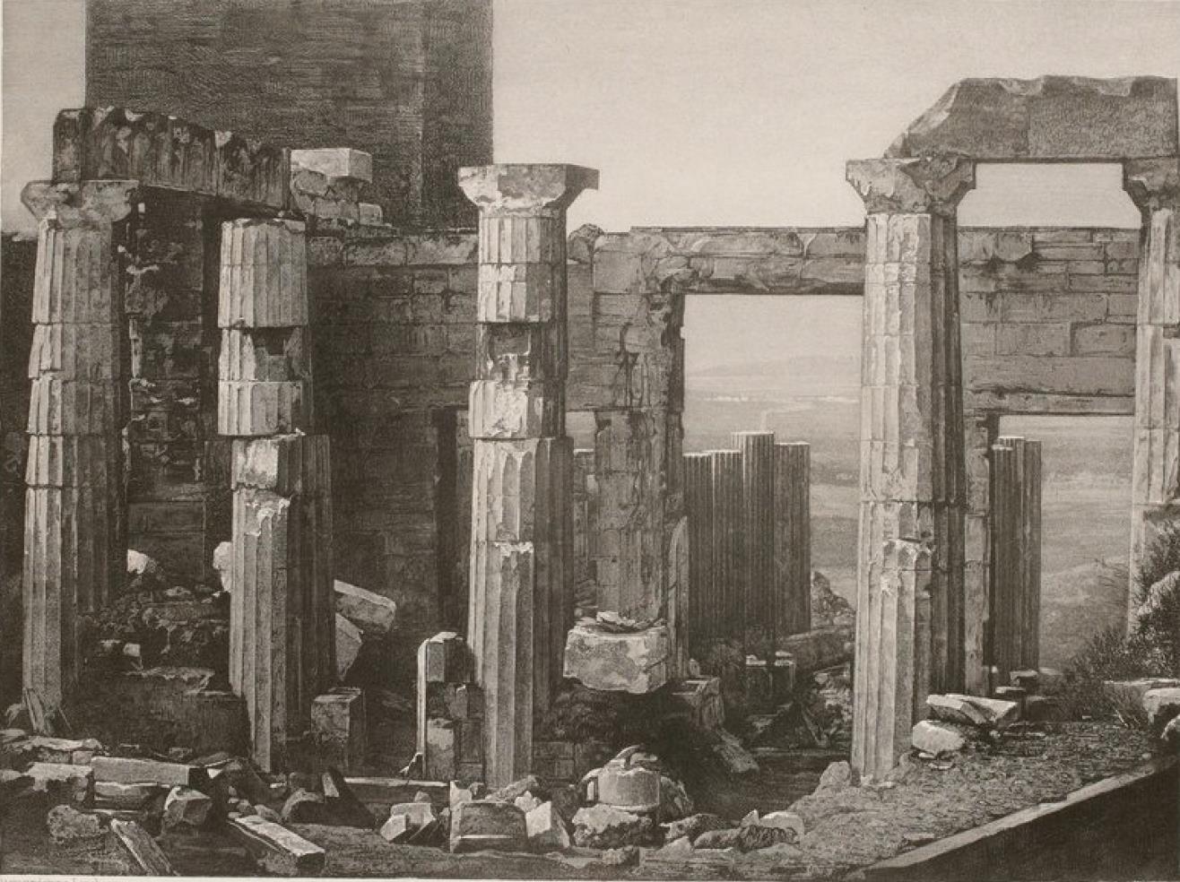 Греция. Афины. Акрополь. Пропилеи