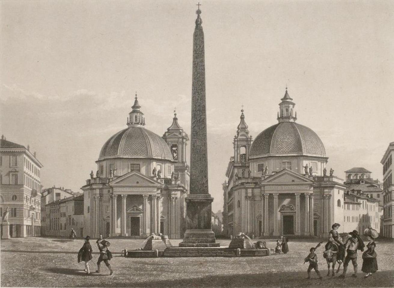Италия. Рим. Пьяцца-дель-Пополо