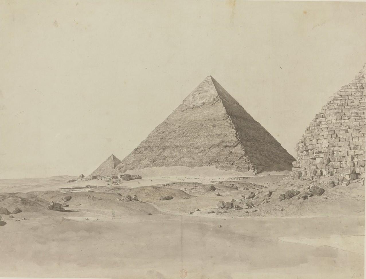 Пирамиды Гизы. Пирамида Хефрена. Вид с востока